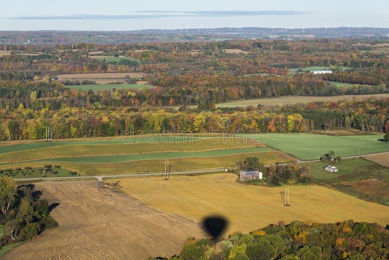 Вид с воздуха страны центрального штат Нью-Йорк стоковое фото rf