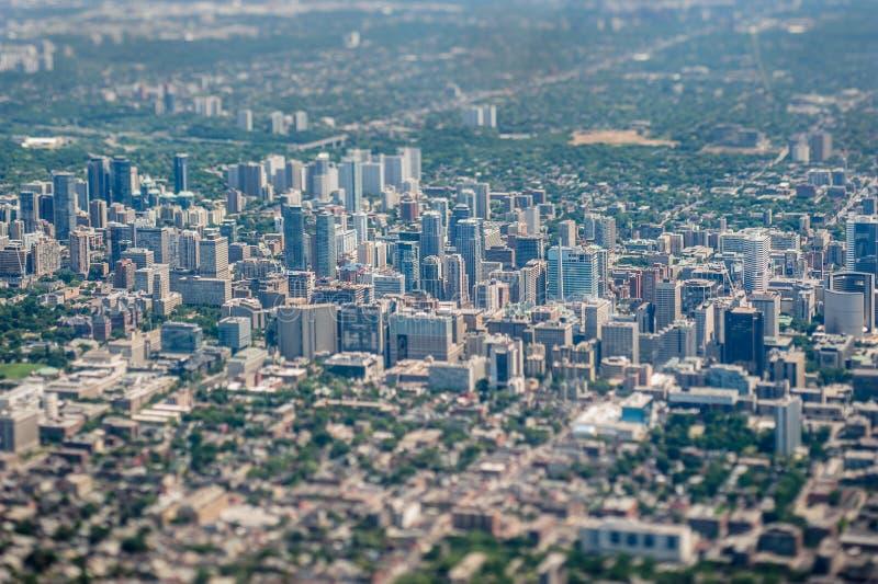Вид с воздуха Торонто стоковые изображения