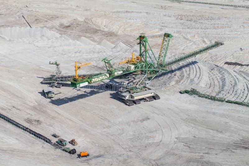 Вид с воздуха угольной шахты стоковое фото rf