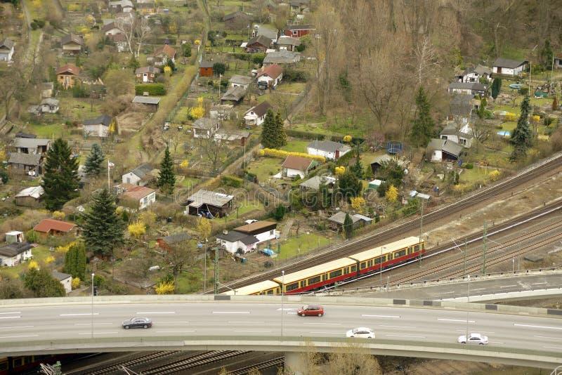 Вид с воздуха уделений стоковая фотография