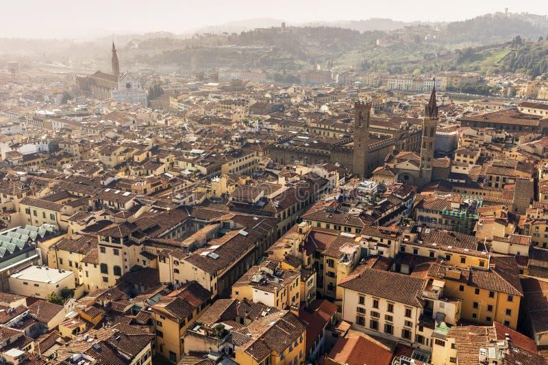 Вид с воздуха Флоренса стоковые изображения