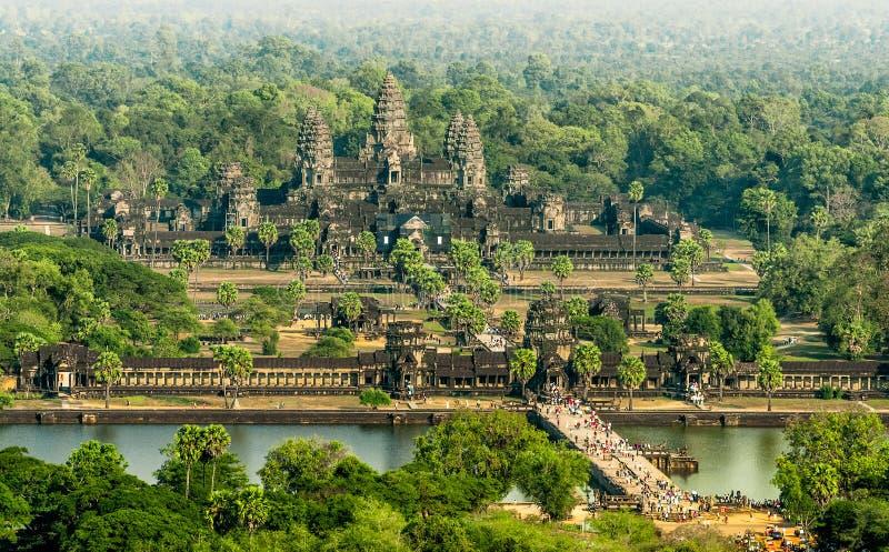 Вид с воздуха Angkor Wat, Siem Reap, Камбоджа стоковые изображения