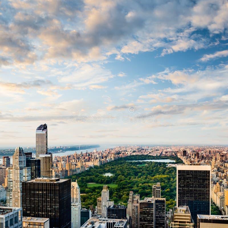 Вид с воздуха Central Park в Нью-Йорке стоковые изображения rf
