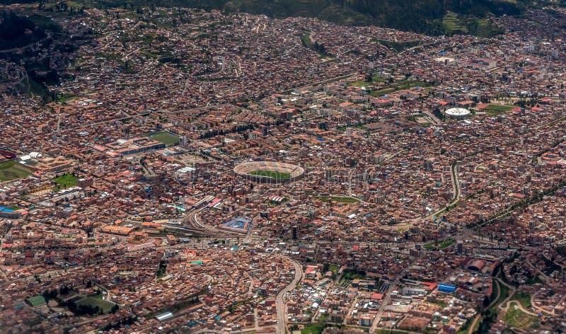 Вид с воздуха Cusco, Перу стоковое изображение
