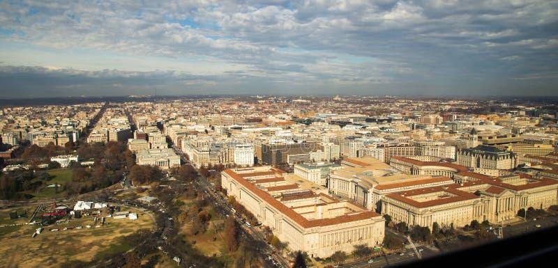Вид с воздуха DC Вашингтона стоковые фото