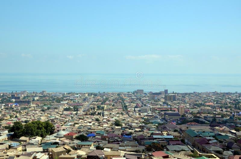Вид с воздуха Derbent стоковое изображение rf