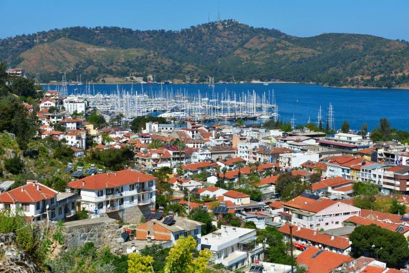 Вид с воздуха Fethiye, Турции стоковые изображения