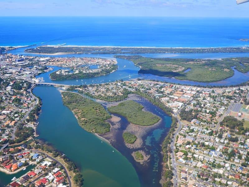 Вид с воздуха Gold Coast стоковые фотографии rf