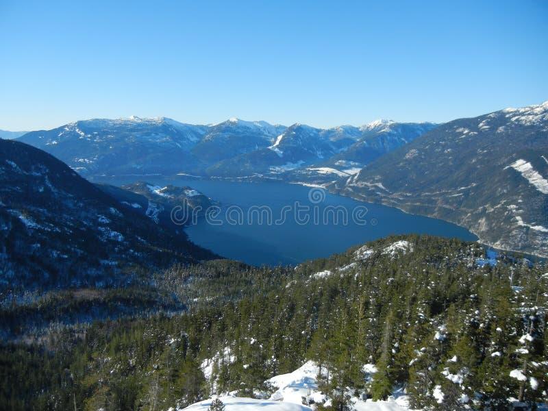 Вид с воздуха Howe Sound стоковые изображения