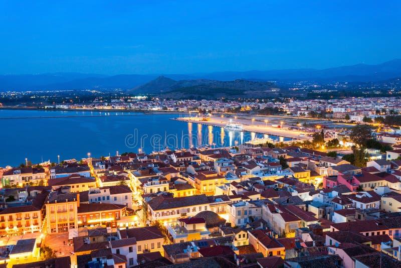 Вид с воздуха Nafplio, Греция стоковое фото rf