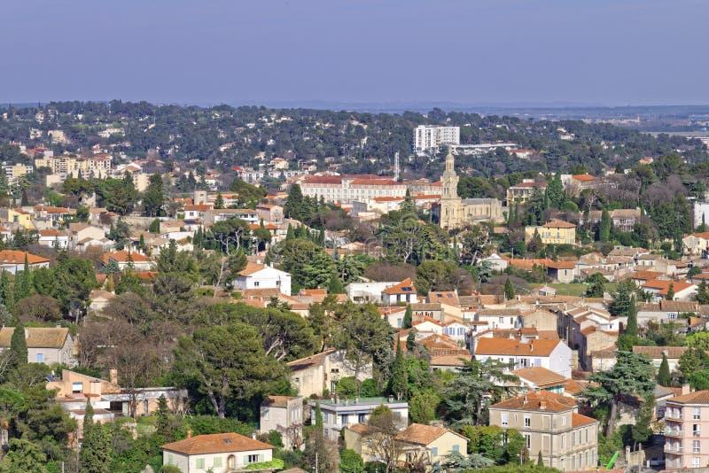 Вид с воздуха Nimes, Франции стоковая фотография rf