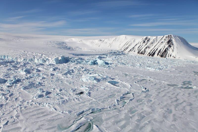Вид с воздуха Severnaya Zemlya (северной земли) стоковое фото