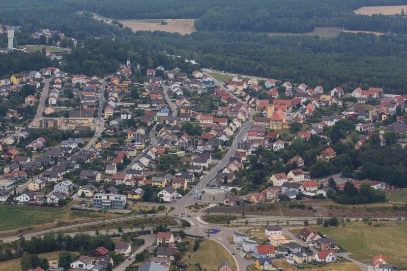 Вид с воздуха Wackersdorf стоковое фото rf