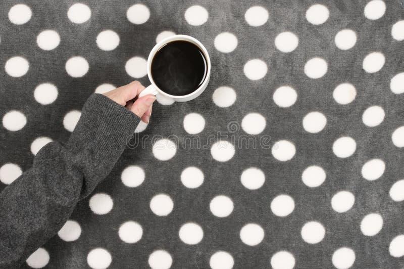 Вид с горячим кофе стоковые фото