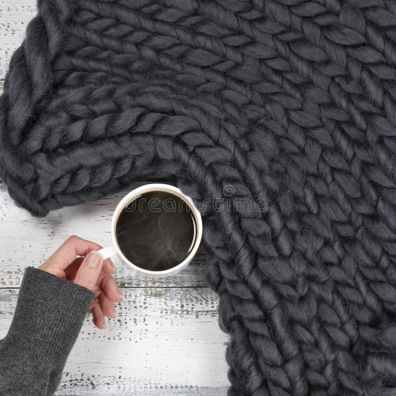 Вид с горячим кофе стоковая фотография rf