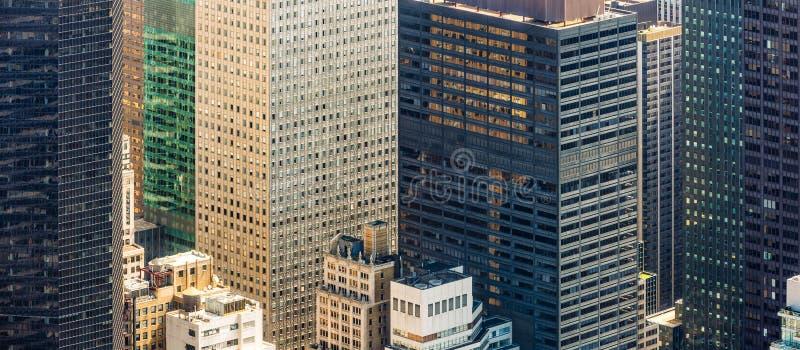 Вид с птичьего полета городского пейзажа Нью-Йорка стоковое фото rf