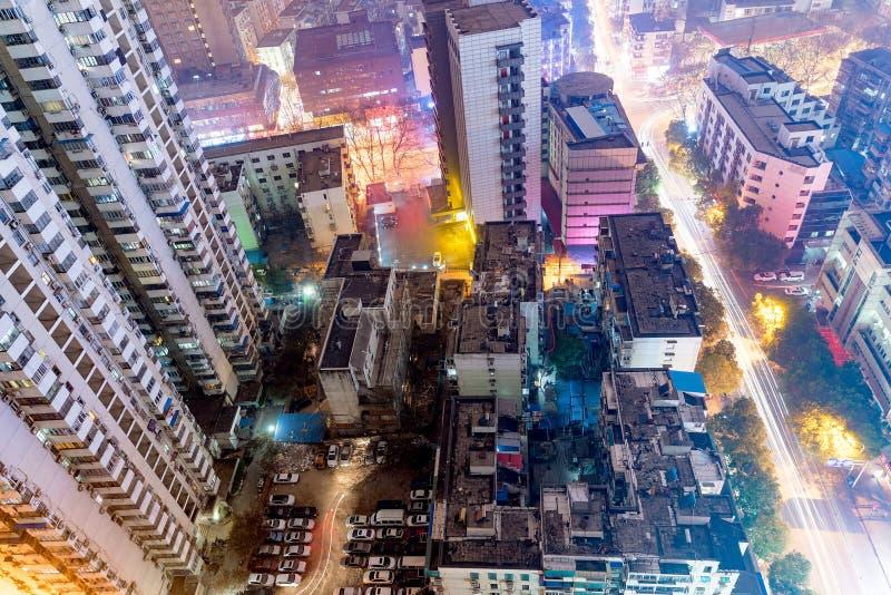 Вид с птичьего полета зданий стоковые изображения rf