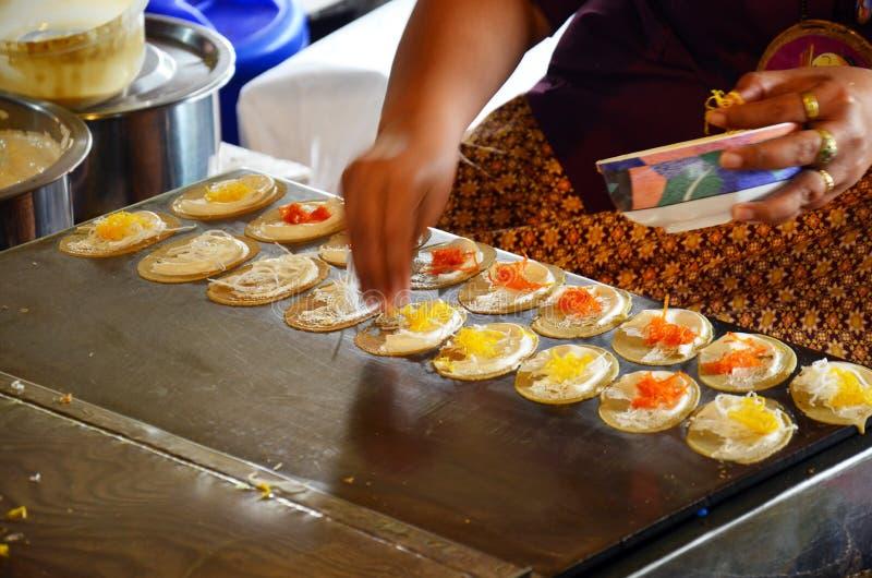 Вид тайского sweetmeat Khanom Buang стоковое изображение