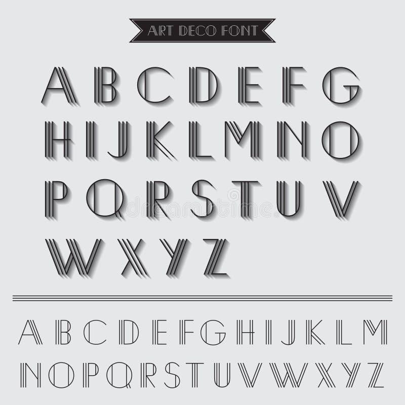 Вид шрифта стиля Арт Деко