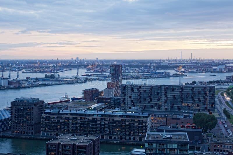 Виды на город Роттердам стоковая фотография