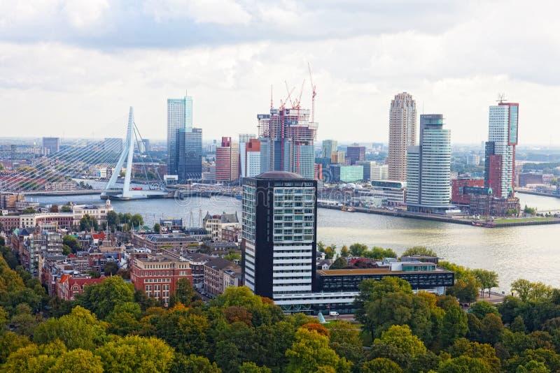 Виды на город Роттердам стоковое изображение
