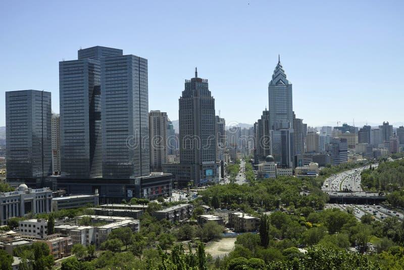Виды на город Urumqi стоковые изображения