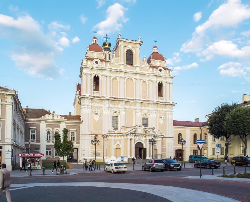 Вильнюс, Литва - 16-ое августа 2013 Церковь ` s St Casimir стоковая фотография