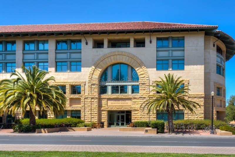 Вильям стробирует здание компьутерных наук на Стэнфордском университете стоковая фотография
