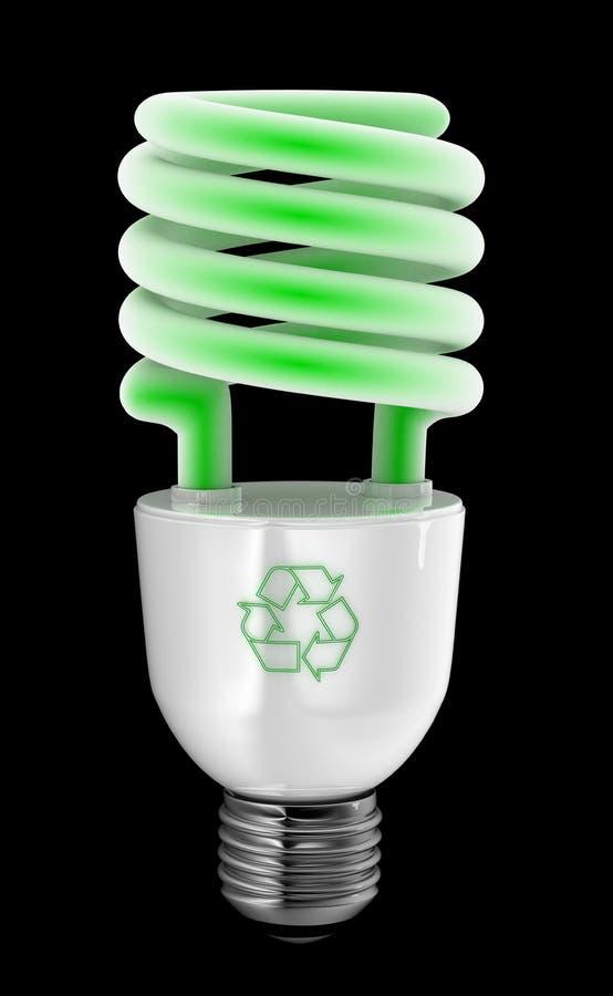 вкладчик энергии зеленый иллюстрация штока