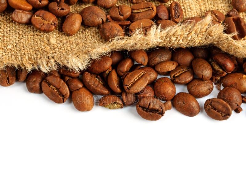 вкладыш кофе мешковины фасолей стоковые фотографии rf