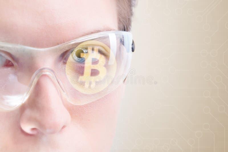 Вклад Bitcoin стоковые фотографии rf