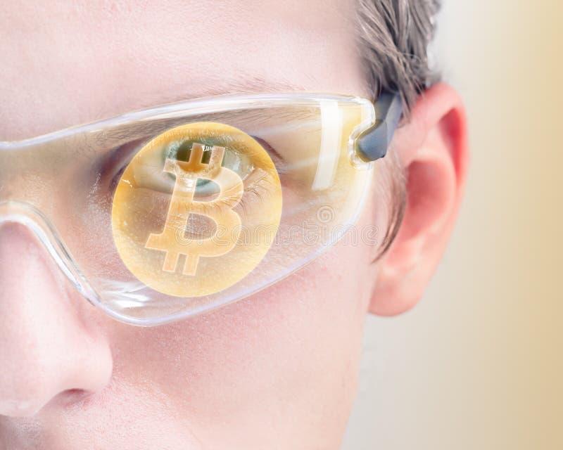 Вклад Bitcoin стоковые изображения rf