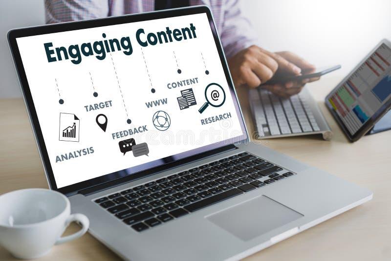 Включая данные по издания средств массовой информации СОДЕРЖИМЫМ данным по маркетинга Blogging стоковая фотография rf