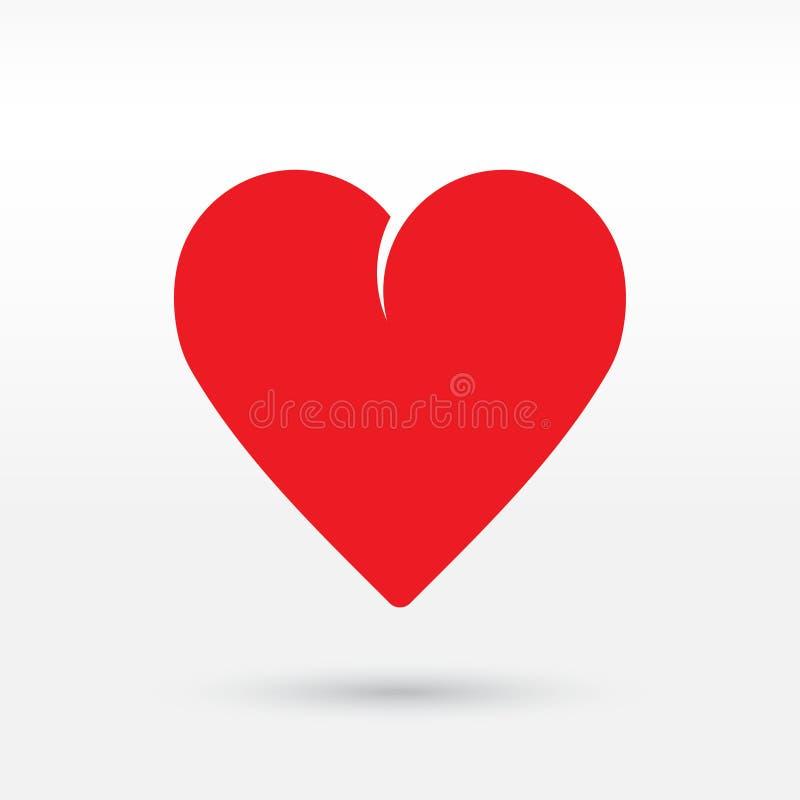 включенная икона сердца архива 8 eps вектор иллюстрация вектора