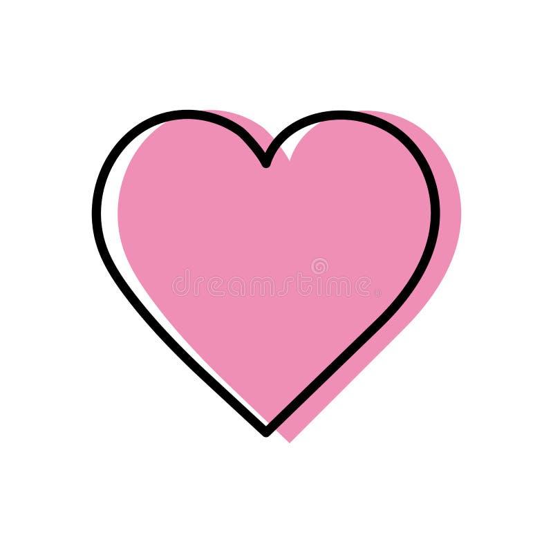 включенная икона сердца архива 8 eps также вектор иллюстрации притяжки corel бесплатная иллюстрация