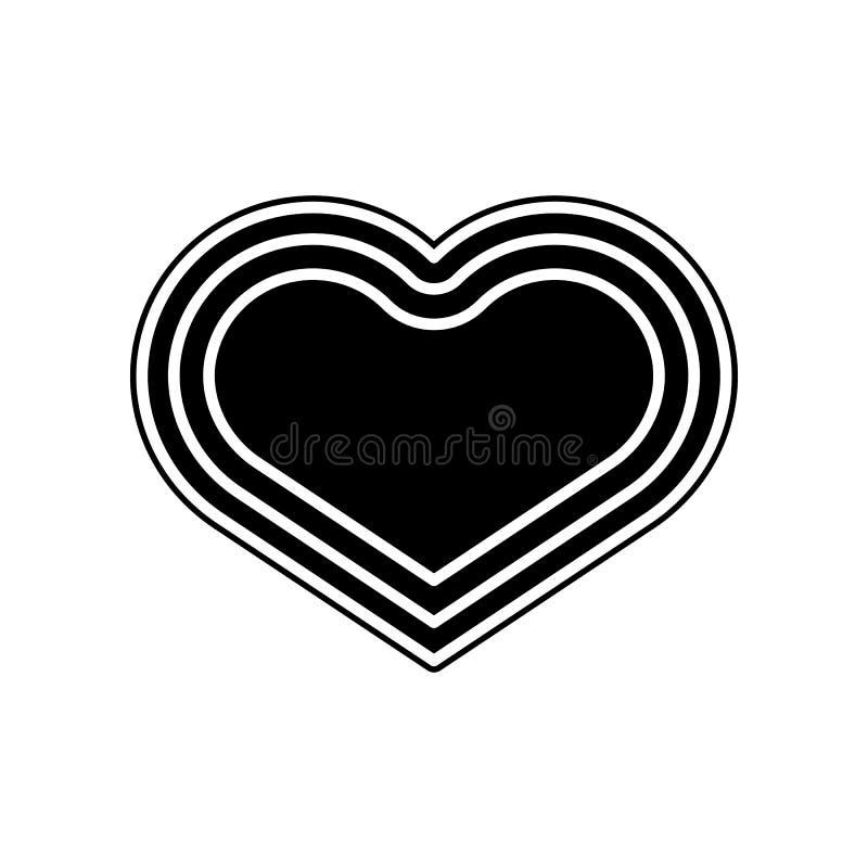 включенная икона сердца архива 8 eps Элемент донорства крови для мобильных концепции и значка приложений сети Глиф, плоский значо иллюстрация вектора