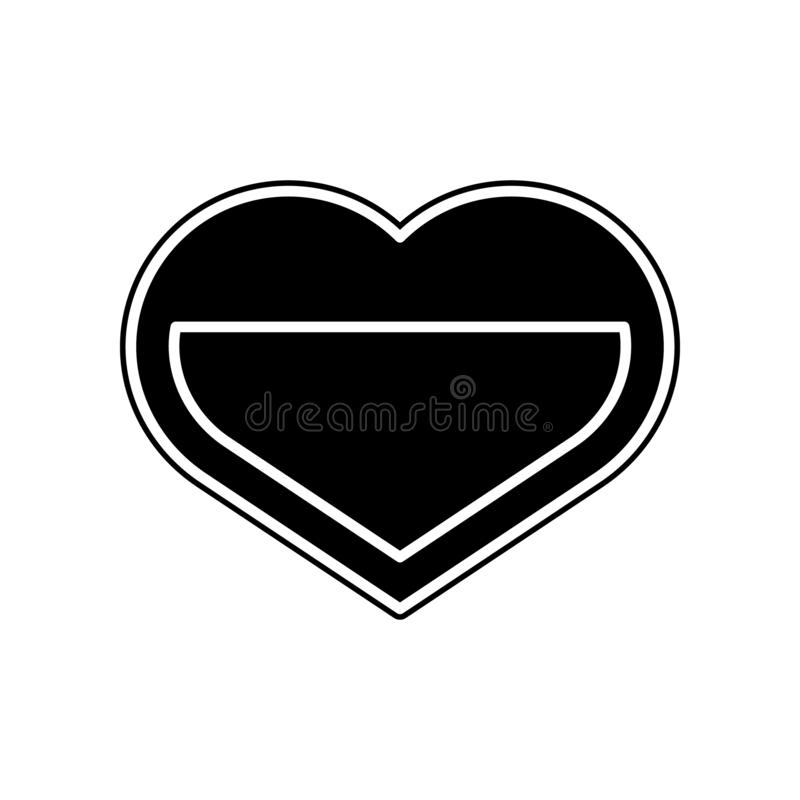 включенная икона сердца архива 8 eps Элемент донорства крови для мобильных концепции и значка приложений сети Глиф, плоский значо иллюстрация штока