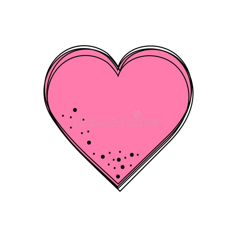 включенная икона сердца архива 8 eps бесплатная иллюстрация