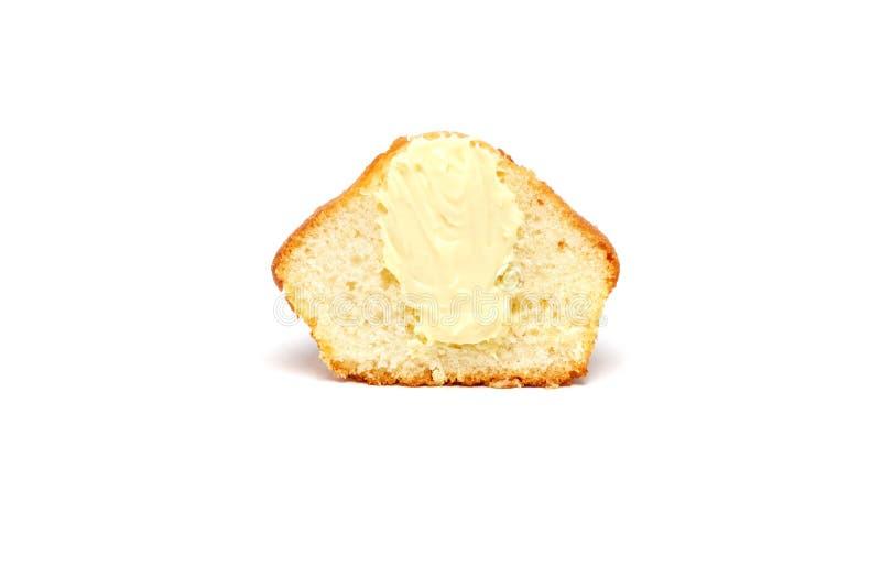 Вкусная булочка на белой предпосылке стоковые фото
