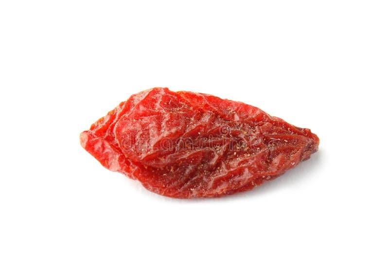 Вкусная высушенная ягода goji изолировала стоковое изображение rf