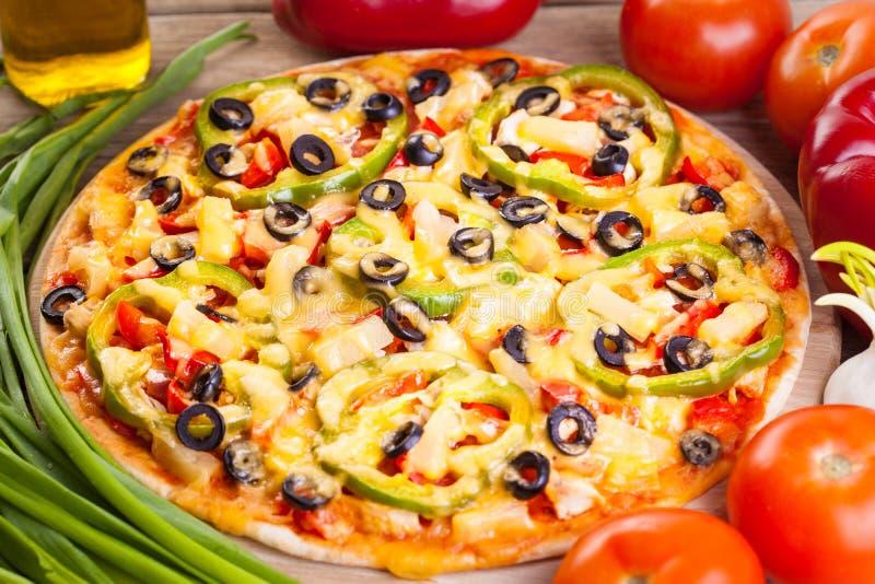 вкусная итальянская пицца стоковые фотографии rf