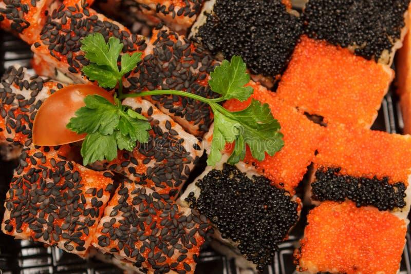 Вкусная и здоровая еда от морепродуктов стоковое фото rf
