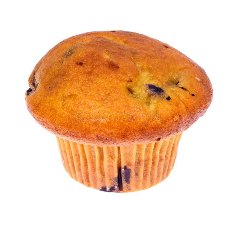 Вкусная мягкая булочка с голубикой на белой предпосылке стоковое фото rf