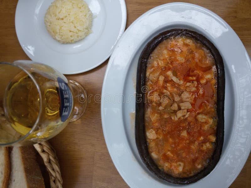 Вкусная сваренная еда стоковое фото