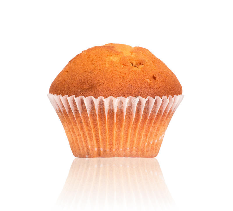 Вкусная свежая булочка на белой предпосылке стоковое изображение rf