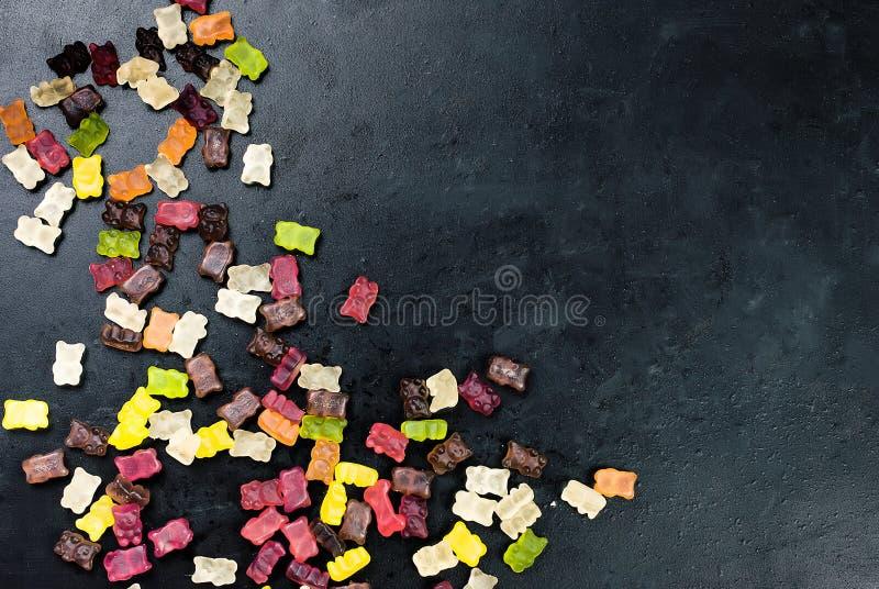 Вкусная смешанная красочная конфета студня помадок стоковые фото