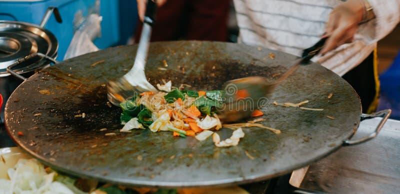 Вкусная тайская еда улицы стоковые фото