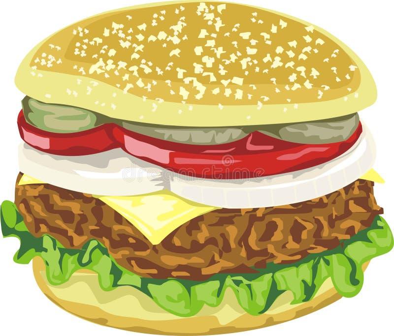 вкусное гамбургера сочное Стоковая Фотография RF