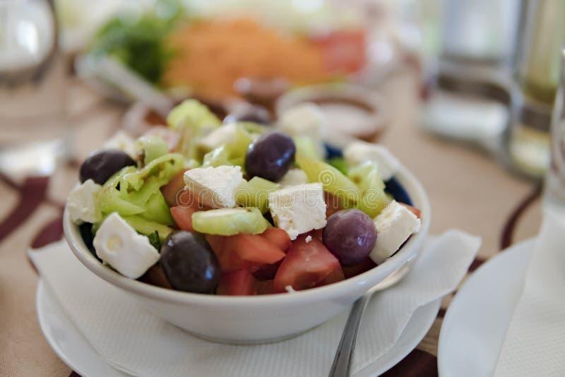 Вкусное греческое salat стоковое фото