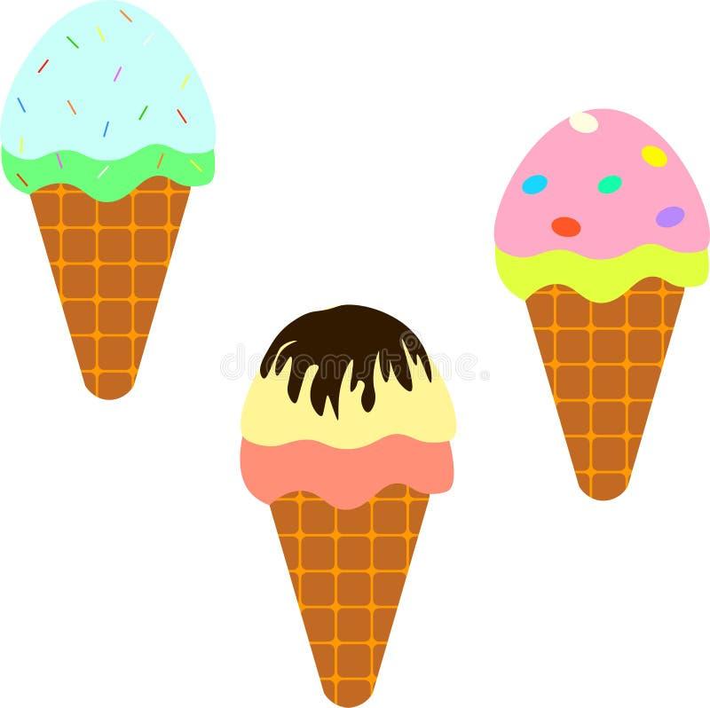 Вкусное пестротканое мороженое 3 стоковые фото
